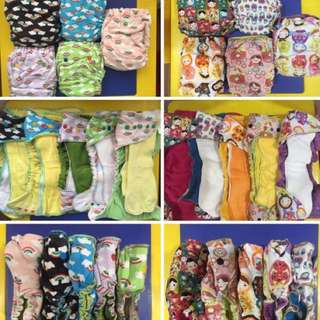 Assorted EUC US WAHM fitted diapers
