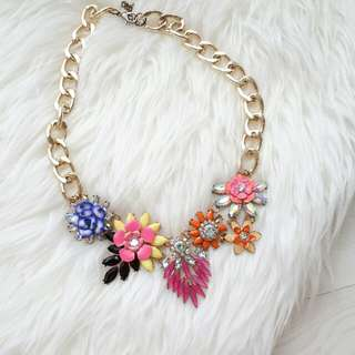 Zara Flower Statement Necklace