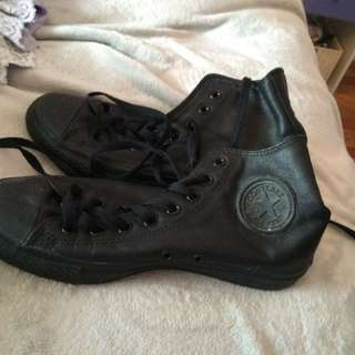 High top leather converse