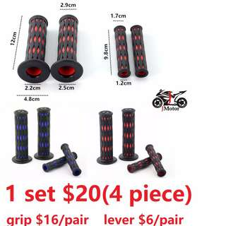 new motorcycle motor bike rubber throttle grip and lever grip