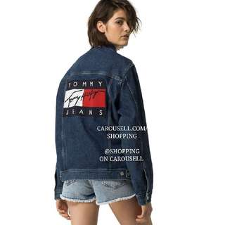 (FLASH SALE) (2 Colours) Tommy Hilfiger Oversized Boyfriend Denim Jacket #1212yes