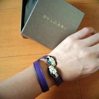 BVLGARI寶格麗雙圈蛇頭珠寶手環