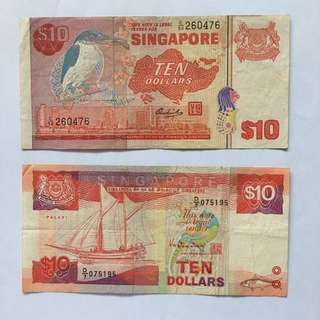 Old Singapore $10 note