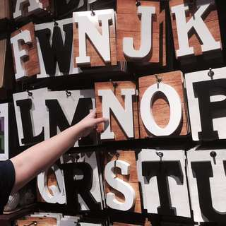 Typo Wooden Letter