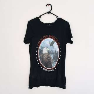 AFENDS Country Tee with Eagle Print