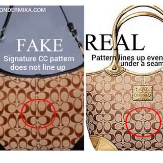 How to spot a fake Coach Handbags