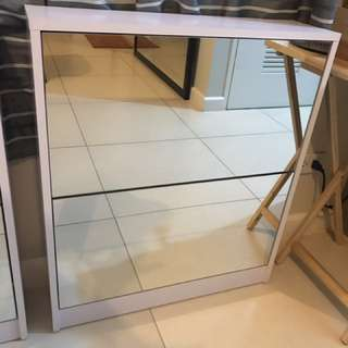 Shoe Cabinet with Mirror 2 Layers