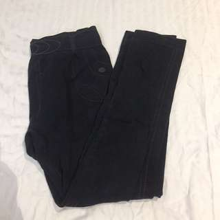 Black fleece inside leggings