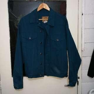 vintage teal denim jacket RARE!