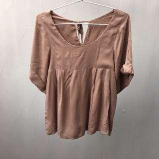 Brown blouse top