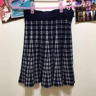 藍色格子針織裙🆓免運費