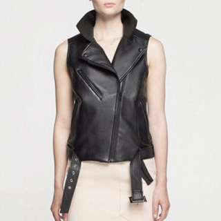 White Suede Leather Vest