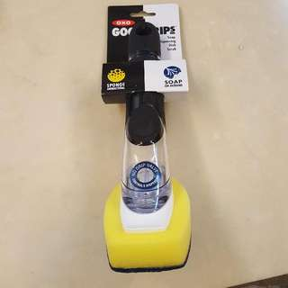 OXO雙層海綿斜角清潔噴刷
