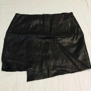 Sport girl Leather Skirt