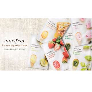 [Innisfree Mask] It's real squeeze mask ( 9.50 $ for 10 pieces) - Mix and Match