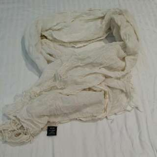 Rubi Cotton White Scarf