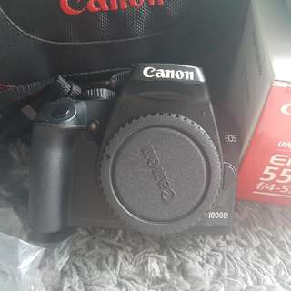 Canon 1000D with EF-S 55-250mm Lens