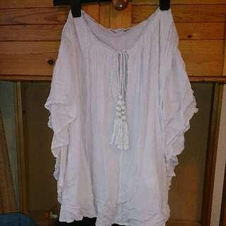 Mango MNG 白色民族風上衣