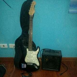 electric guitar+amplifier (LAZER)