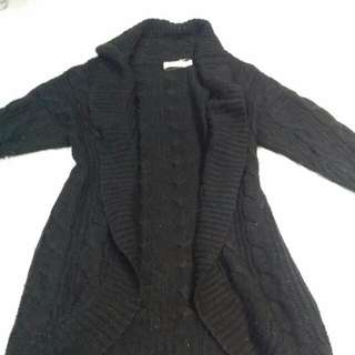 Cocolatte Black Knit Cardigan