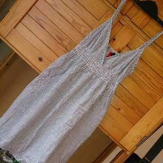H&M直條紋短洋裝