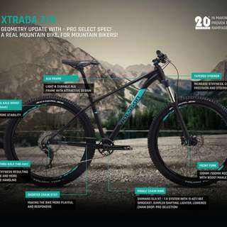 2018: Polygon Xtrada 8 XT M8000 1x11 Speed Equipped Mountain Bike
