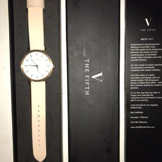 The fifth label rose gold watch
