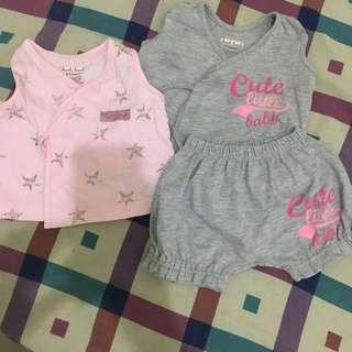 Newborn tops and shorts
