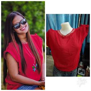 pre loved red blouse