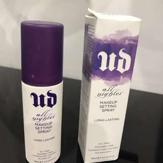 UD All nighter setting spray slightly use