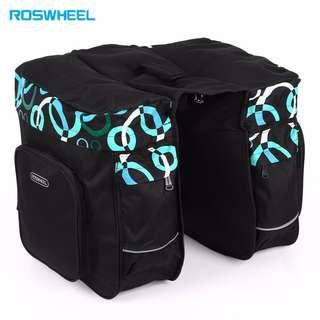 💯 Roswheel 30L Double Pannier Pack Bicycle Rear Rack Bag