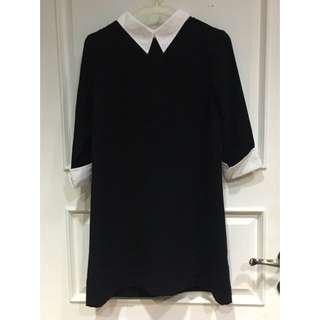 Catha Black Shirt Dress