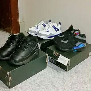 2 jordan shoes and 1 airmax all size 6c