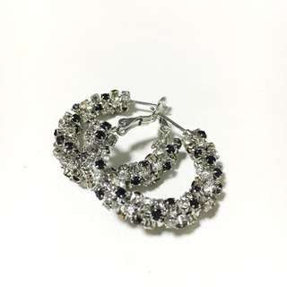 Chomel Crystal Hoop Earrings