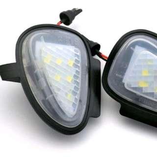 2x LED Under Side Mirror Puddle Lights for Volkswagen VW Golf Mk6 Golf 6 GTI Golf 6 Cabriolet Touran Tiguan Mk1