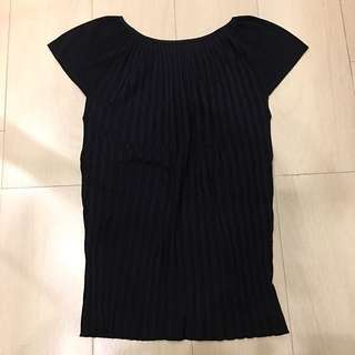Black knit top (atasan)
