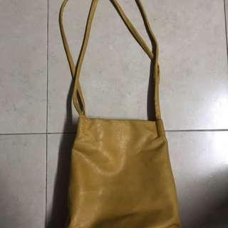 Mustard-coloured handbag