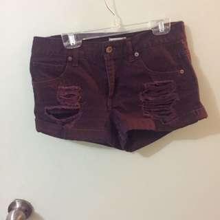 Forever 21 burgundy shorts
