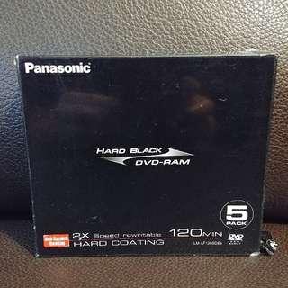 Panasonic Hand Black DVD-RAM 共5隻碟
