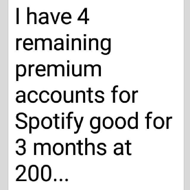 3 months Premium Spotify