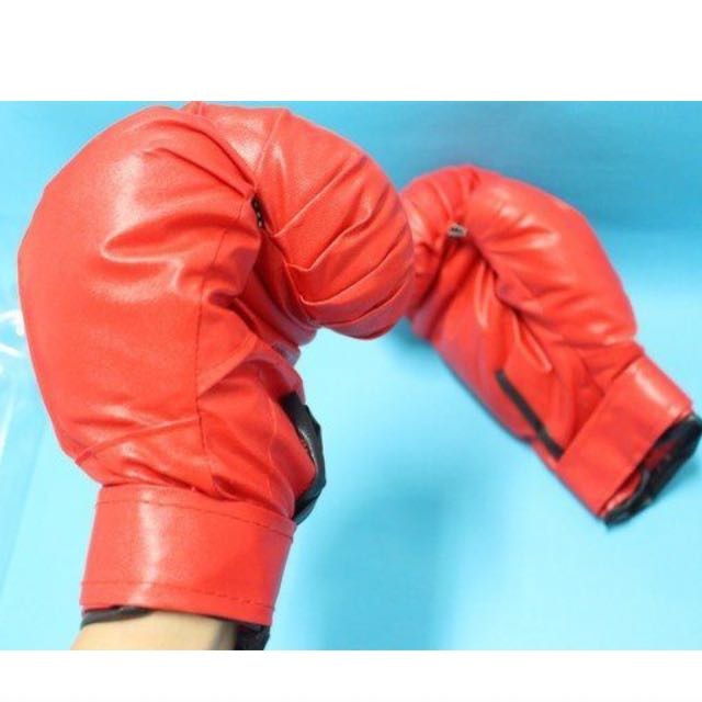 8磅 拳擊手套 紅 藍