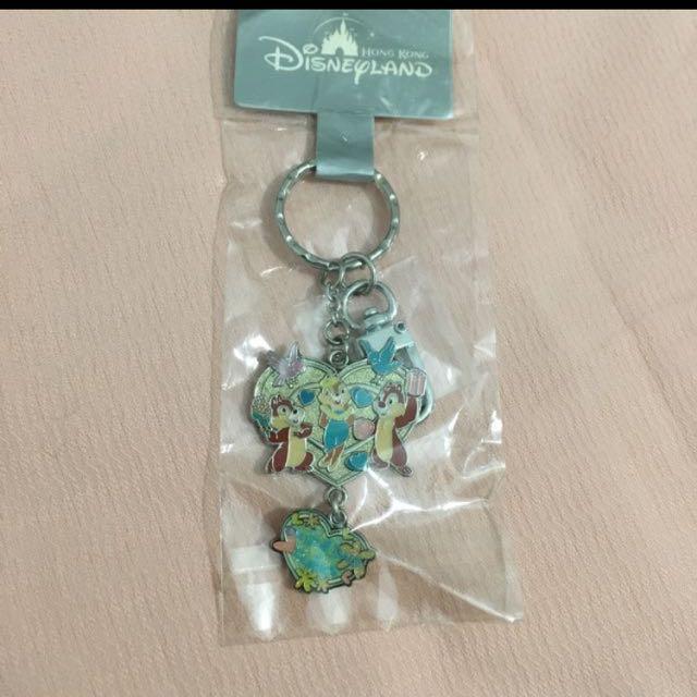 香港迪士尼 奇奇蒂蒂 鑰匙圈