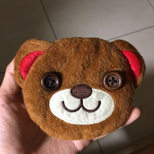 熊熊手拿包 小包包 零錢包 暖暖包