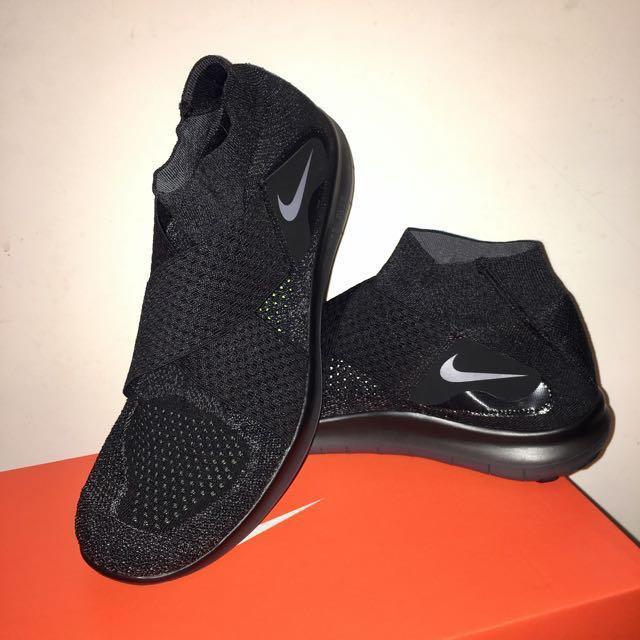 出清降價!全新 Nike Free Rn Motion Flyknit 2017 Black 正品 黑