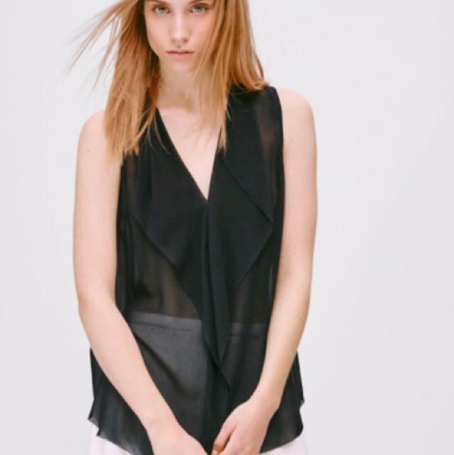 Aritzia Ainsley blouse 100% silk