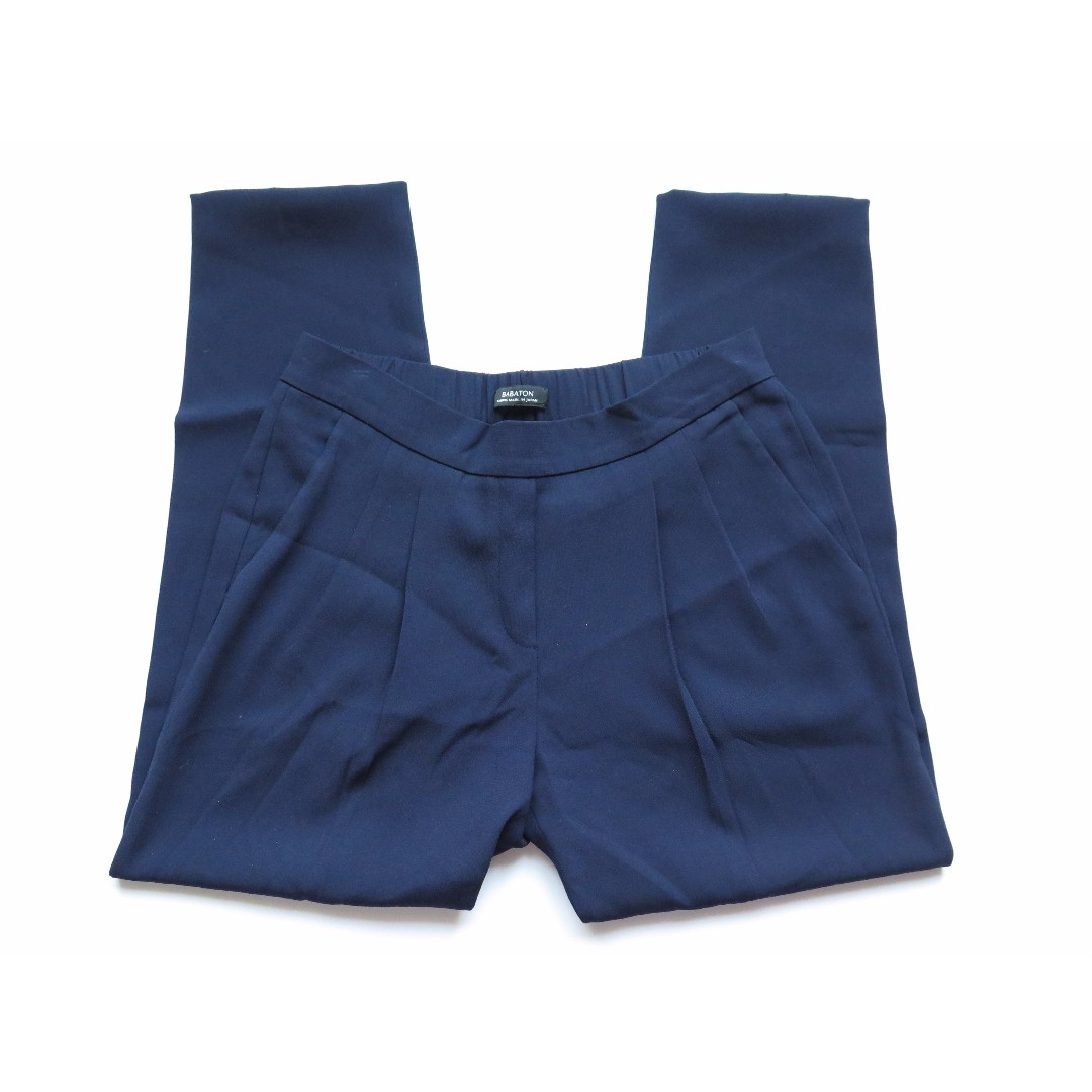Aritzia Babaton COHEN Navy Blue Trouser Pants Sz 6