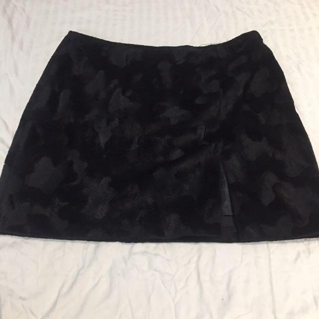 Atelier velvet black skirt