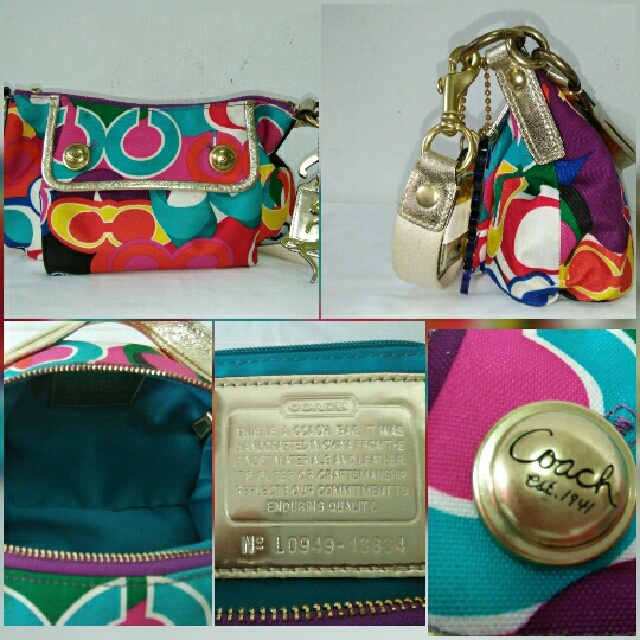87926a5dcfd Authentic Preloved COACH Poppy Multi-Color Signature POP C GLAM ...