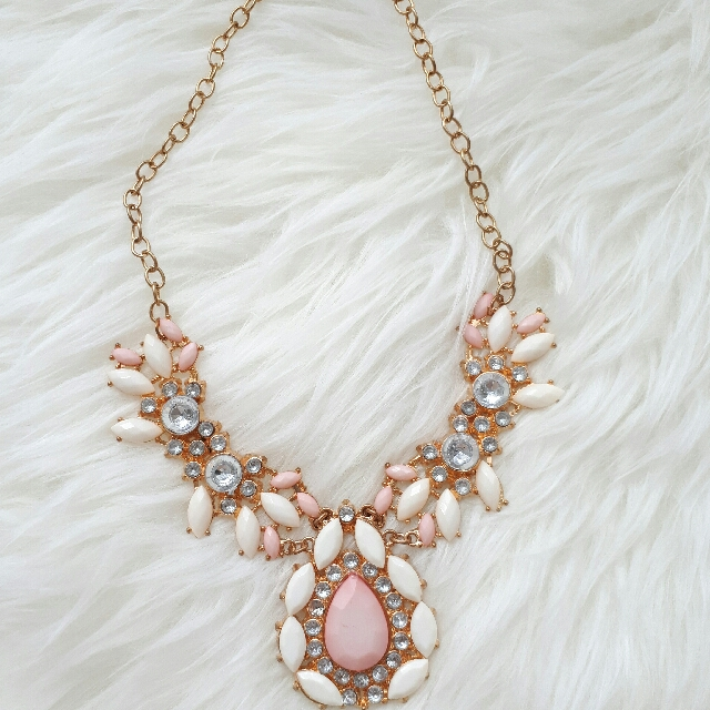 Baby Pink Diamond Statement Necklace