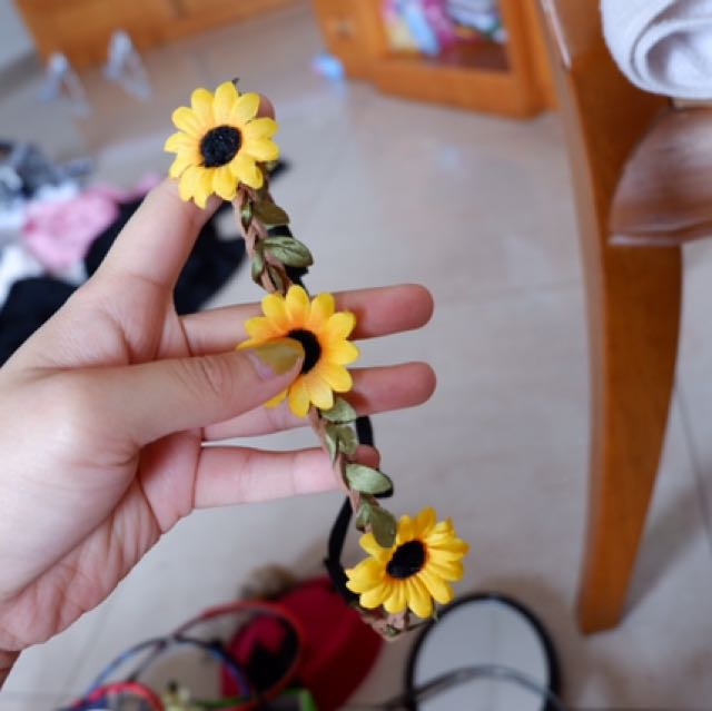 Bando karet flowers handmade